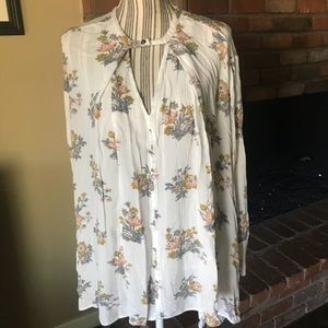 Free People Gardenia Smocked Tunic Swing Dress XS